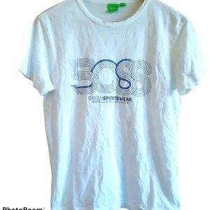 Boss | Green sportswear | white logo tee